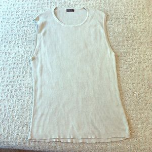 J. Crew Ribbed Tank Career Wear Size M